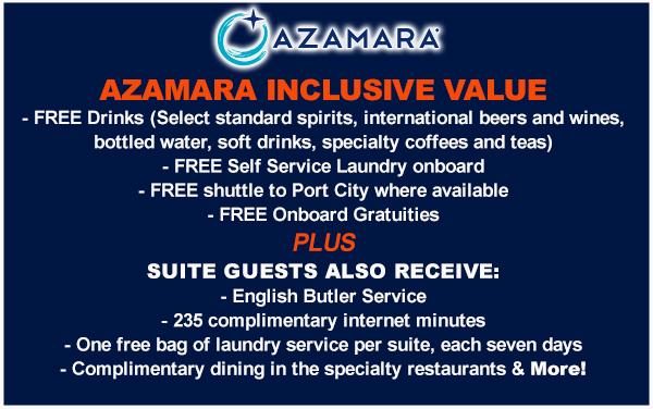 Azamara and celebrity